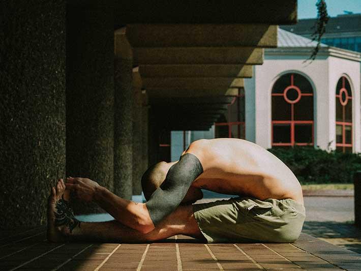 Man Stretching Mindfulness