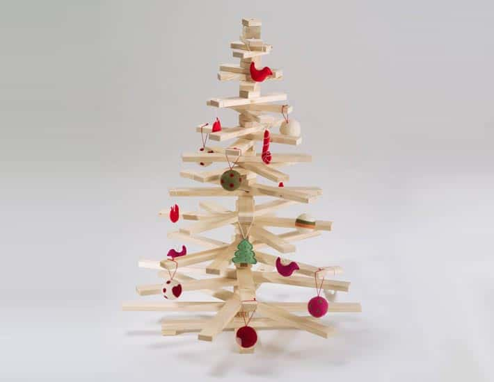 Handmade wooden Christmas tree