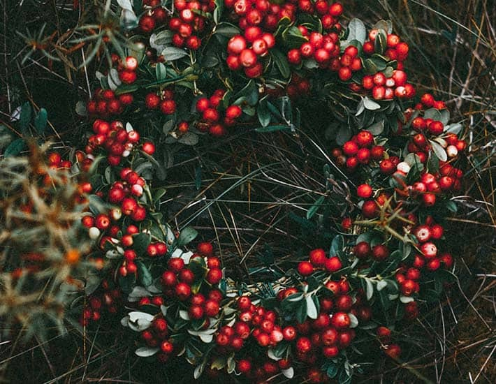 Natural Christmas wreath