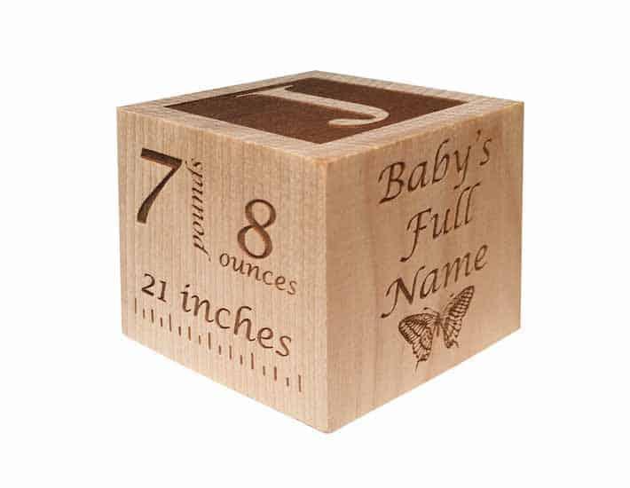 Plastic Free Personalise Baby Blocks