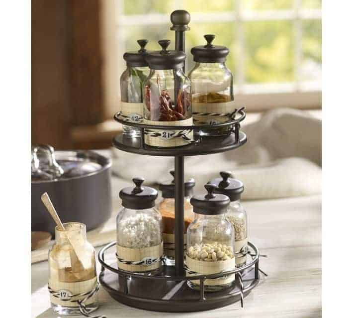 Rotary Spice Rack Pottery Barn | OPAS Blog | Home Organization Products