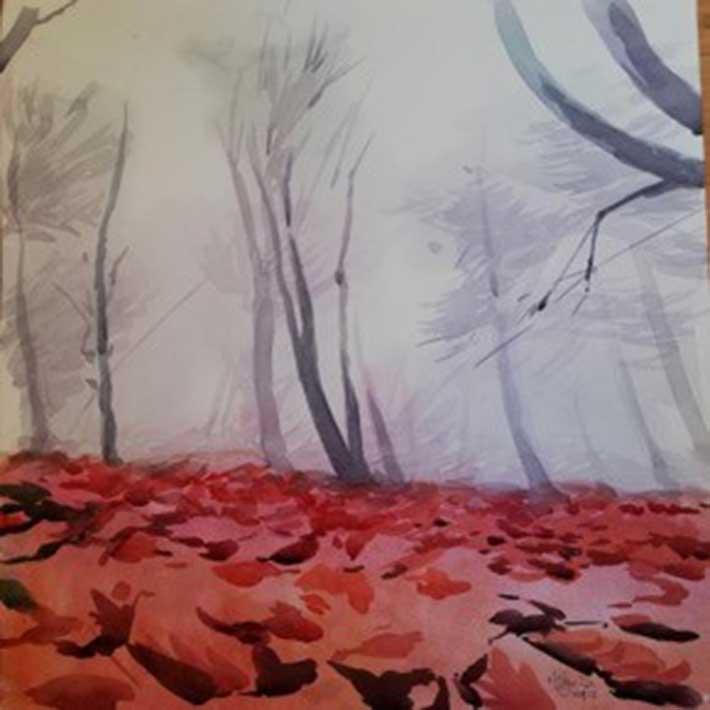 hulya sahin, gri gok yuzu- huzunlu agaclar / grey skies - sad trees