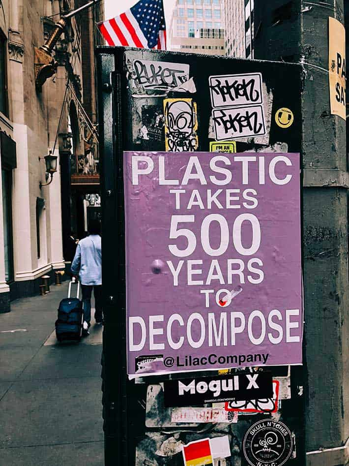 Plastic waste takes 500 years to decompose