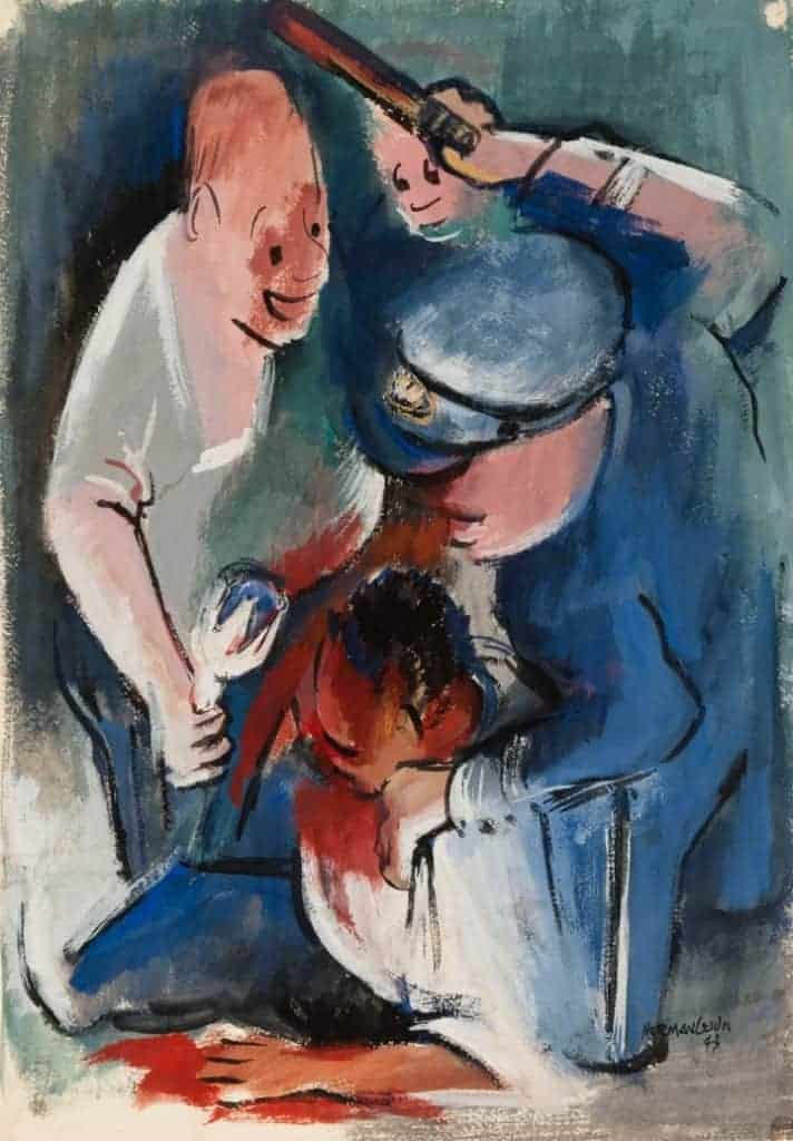 Police Beating by Norman Lewis
