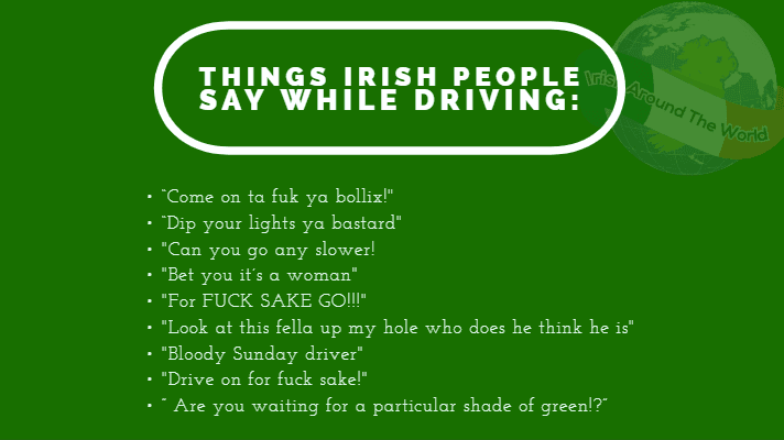 Things that Irish people say when driving