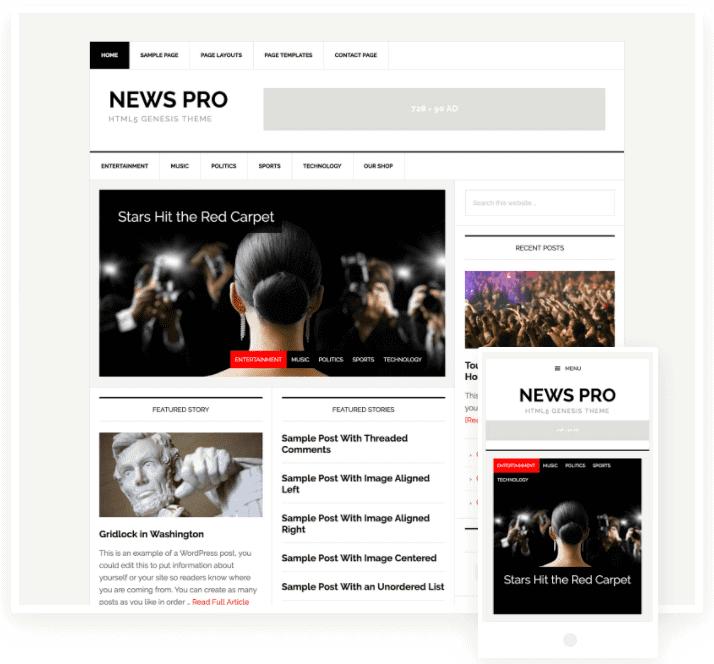 wordpress news theme