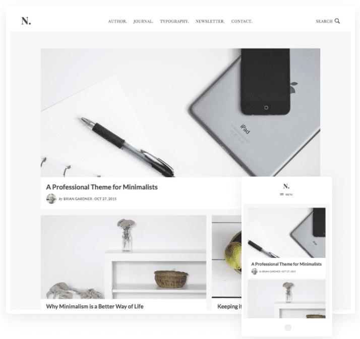 minimalist wordpress blog themes