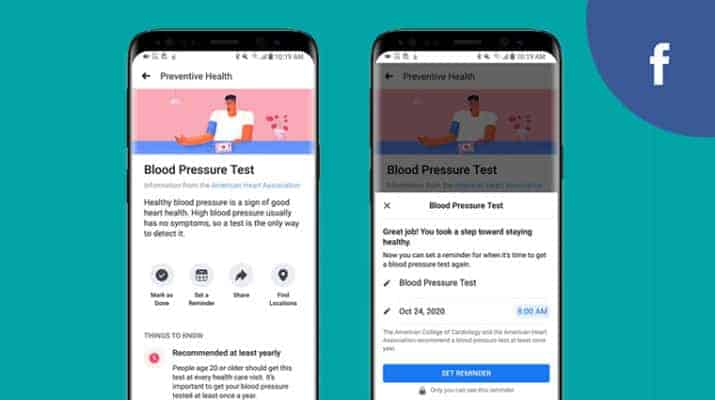 Facebook launches new preventive health tool