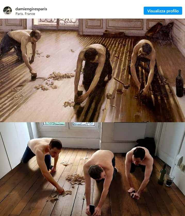 Recreation of Raboteurs de parquet by Gustave Caillebotte - Getty's Challenge