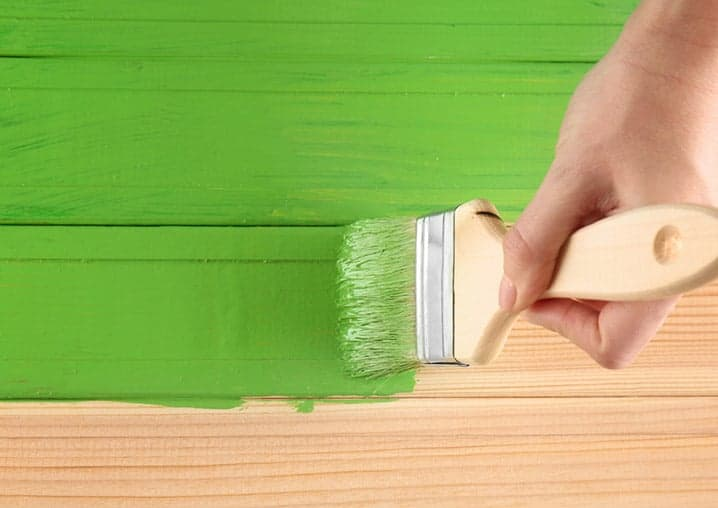 paint brush painting green