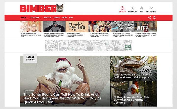 bimber best Viral WordPress themes 2016