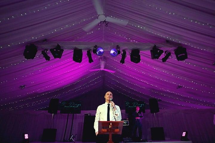 Usher speeches at wedding