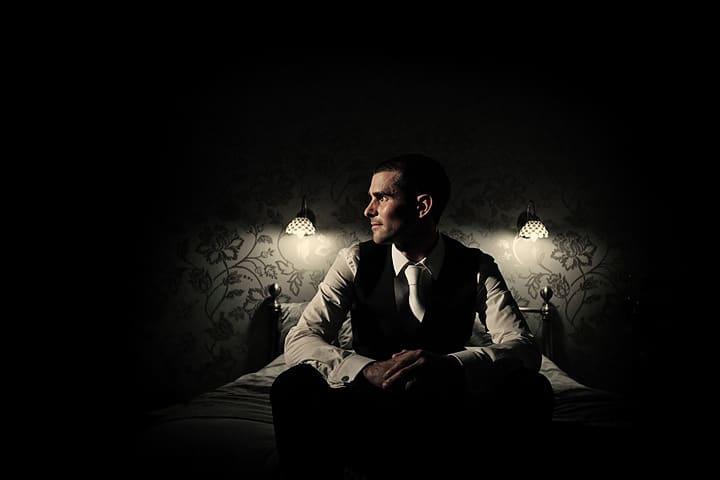 Image of Daniel Nardiello at his wedding Heaton House Farm