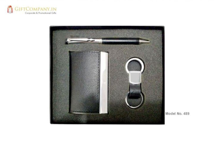 Gift Set - Pen, Card Holder and Hook Key Chain