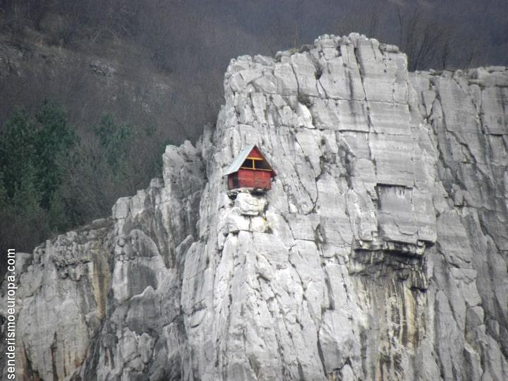 Pared de roca para escalar
