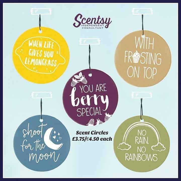 Scentsy scent circles with sayings on