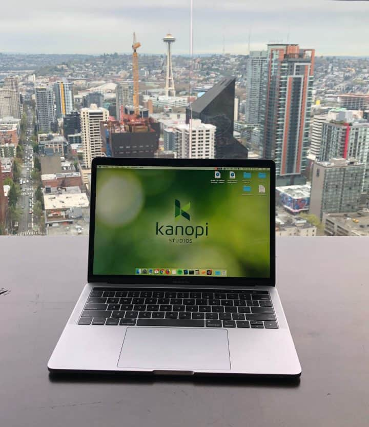 Kanopi Laptop Overlooking the City