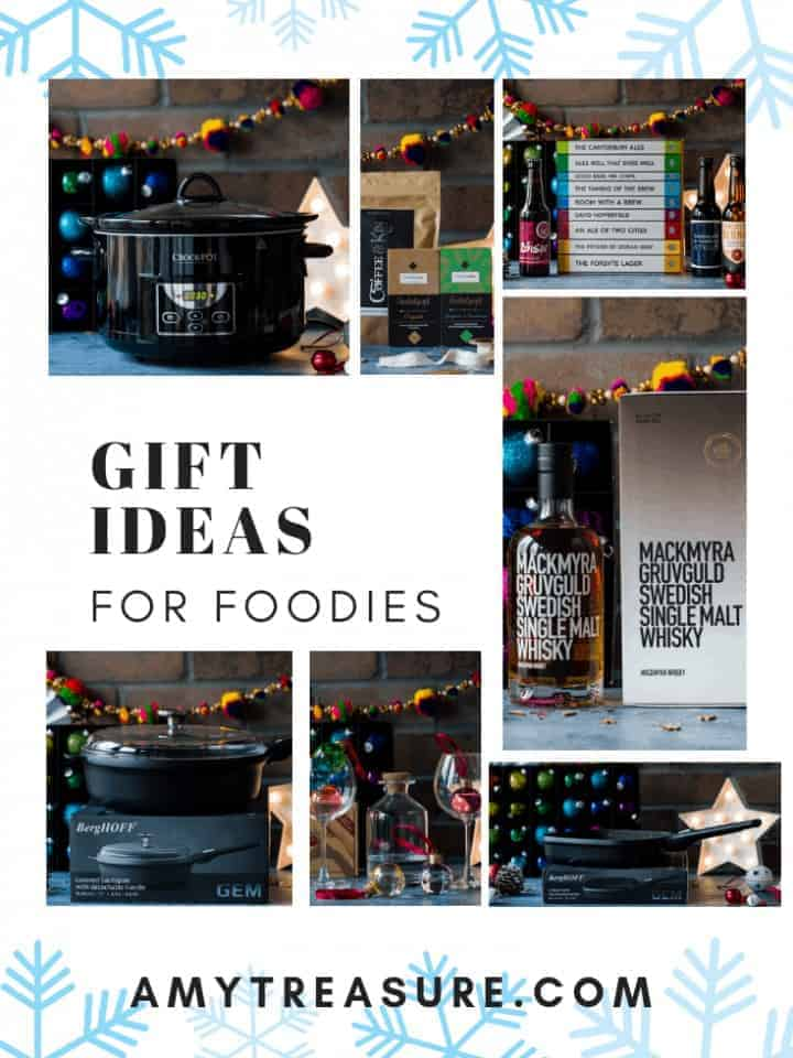 A selection of Christmas gifts for foodies