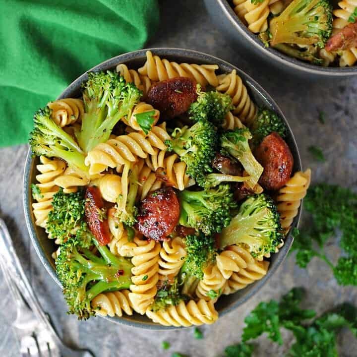 Easy Spicy Broccoli Sausage Pasta