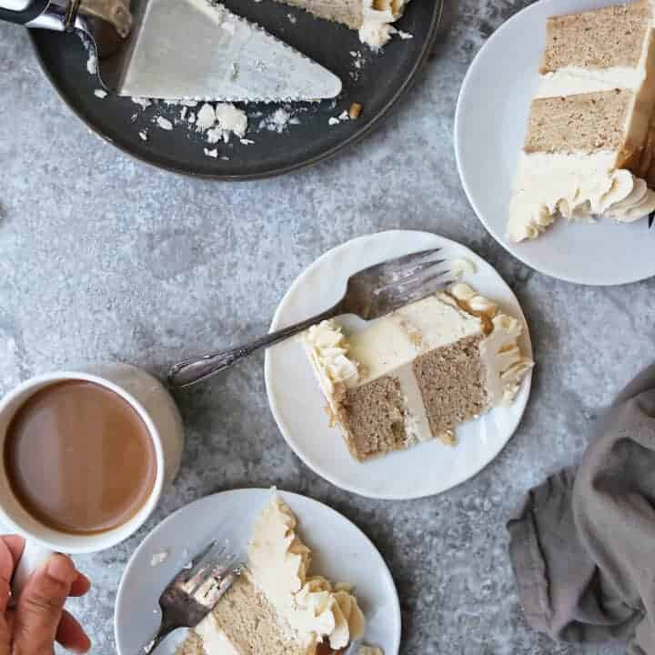 Easy Pumpkin Spice Cake with Maple Brown Sugar Icing