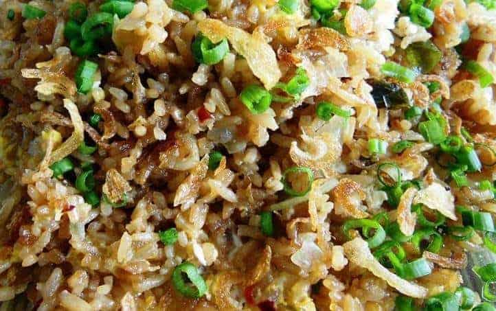 Burmese fried rice & Sesame-fried Vegetables