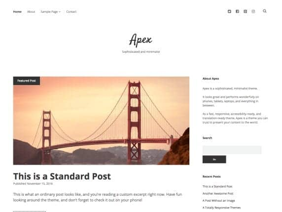 apex minimal theme