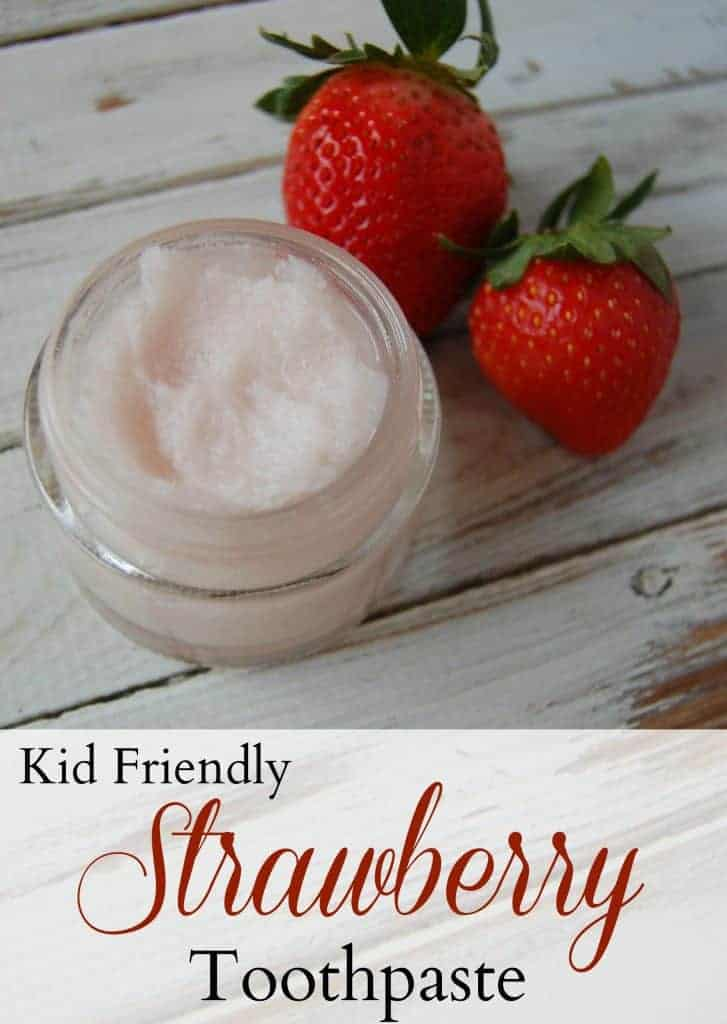 Kid Friendly Strawberry Toothpaste - Learn how to make toothpaste for kids! This tooth paste is so easy to make, pretty inexpensive, and my kids LOVE the flavor! #kidtoothpaste #fluoridefree #greenbeauty #naturalparenting #diy #natural #forkids #withcoconutoil