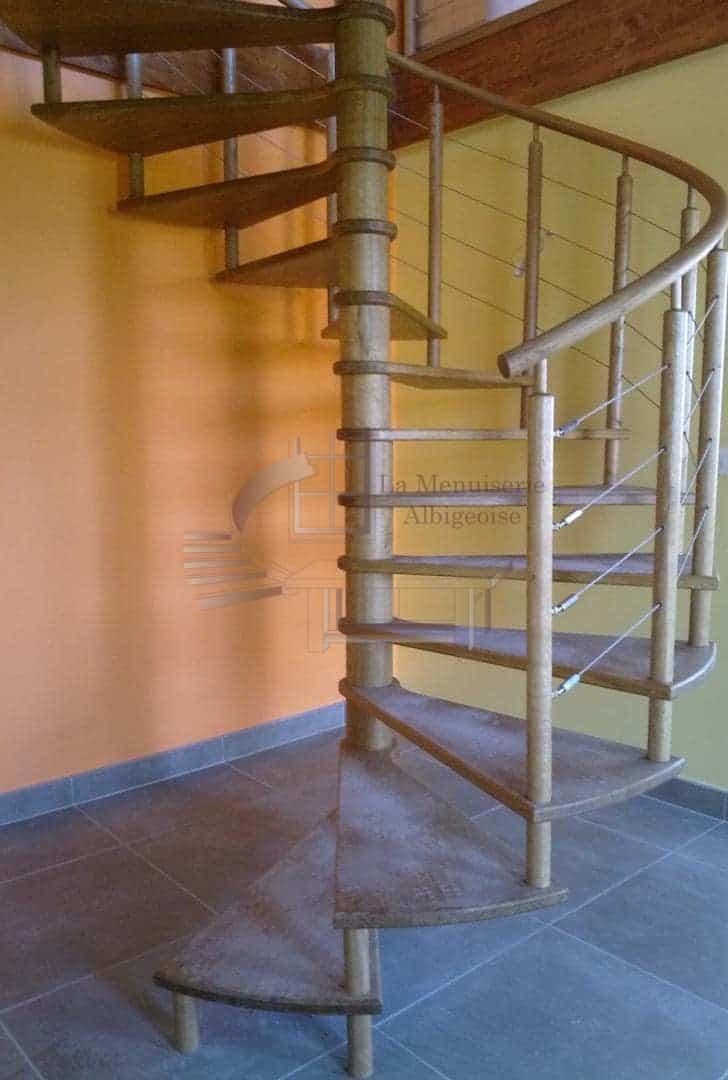 Escalier colimaçon sur Albi