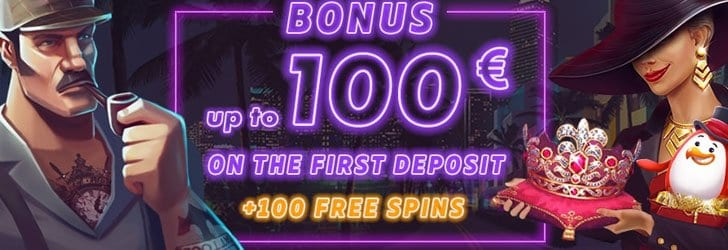 100 euro and 100 gratis spins