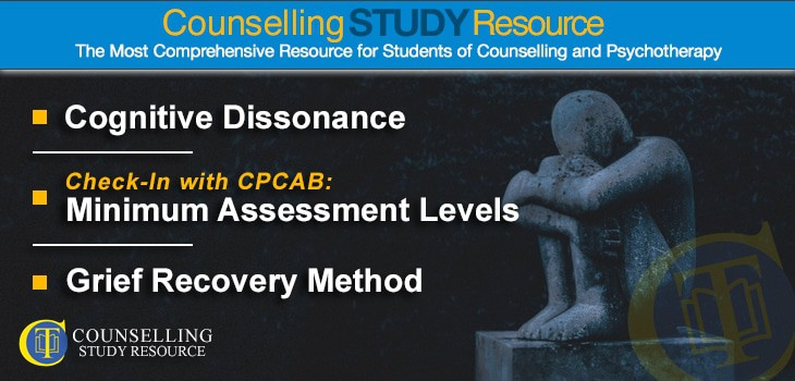 CT Podcast Ep143 featured image - Topics Discussed: Cognitive dissonance; Minimum assessment levels; Grief Recovery Method