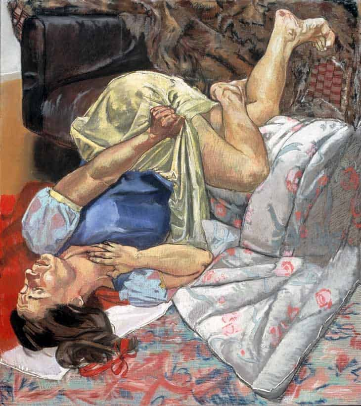 Swallows the Poisoned Apple (1995) by Paula Rego