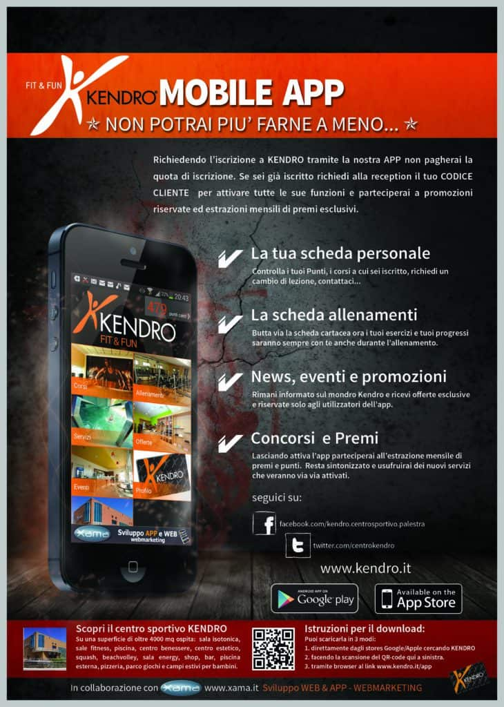 KENDRO MOBILE APP FLYER