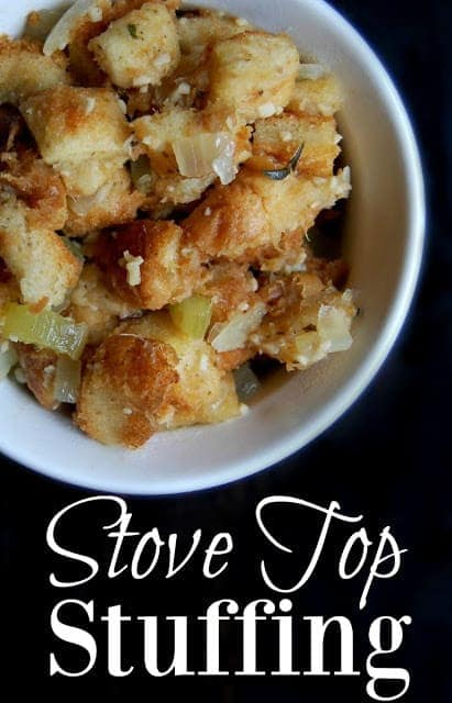 Great stove top stuffing recipe! The stuffing that comes in the classic box is not healthy at all. It's full of awful ingredients such as MSG, high fructose corn syrup, soy, partially hydrogenated oils, a bunch of preservatives and many more unnatural ingredients. #stuffing #thanksgiving #sidedish #fallfoods