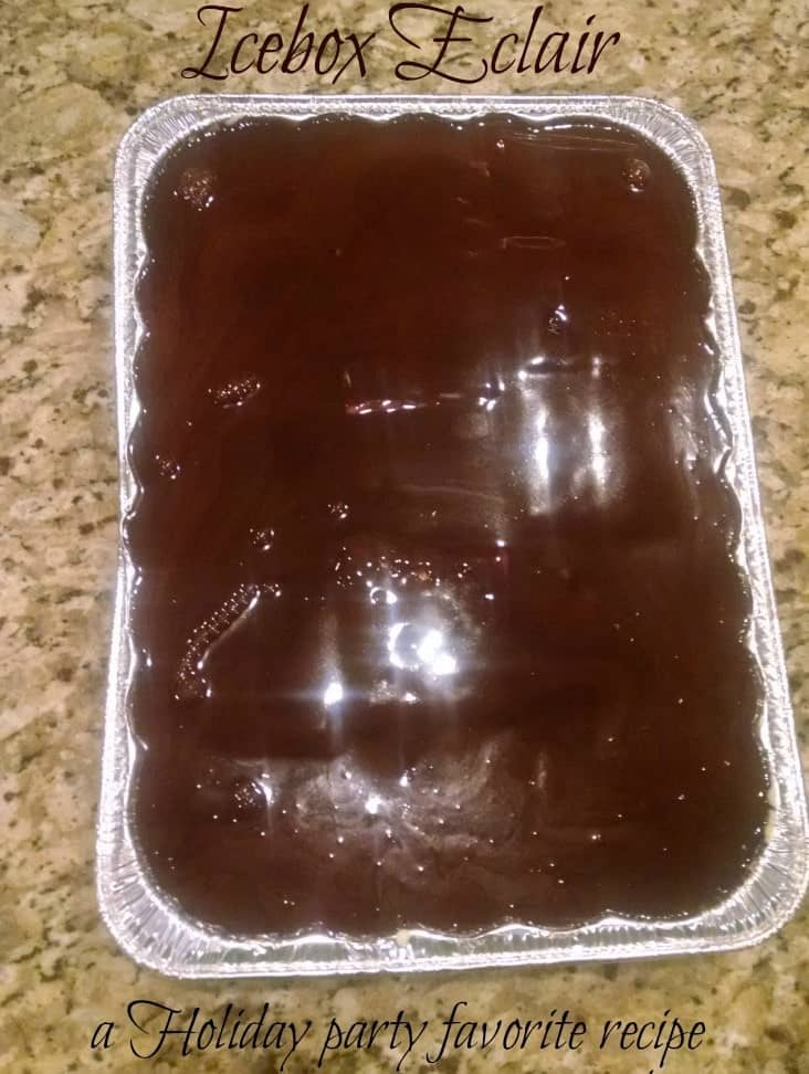 icebox-eclair-recipe- overnight dessert for holidays and special occassions