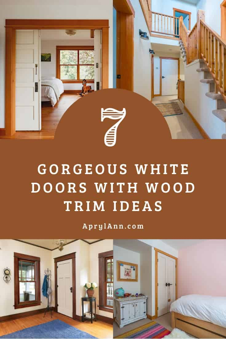 White Doors With Wood Trim