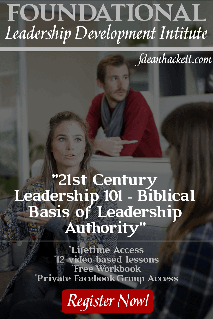 This is one of the best courses I've ever taken on modern church leadership! 21st Century Leadership 101 - Biblical Basis for Leadership Authority is an online leadership course designed to train church leaders to build teams and prepare the next generation to lead the church God's way.