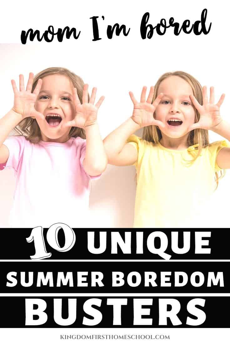 The once exciting summer activities for kids like riding bikes, drawing driveway chalk cities, making 4,567 types of slime are soooo last month. So what now? Try one of these 10 unique and fun summer activities for kids that are sure to bust boredom. #summerboredombusters #kidsactivities #summeractivitiesforkids