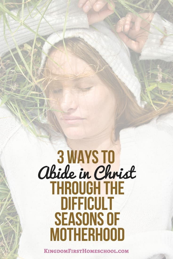 3 ways to abide in Christ through the difficult seasons of motherhood