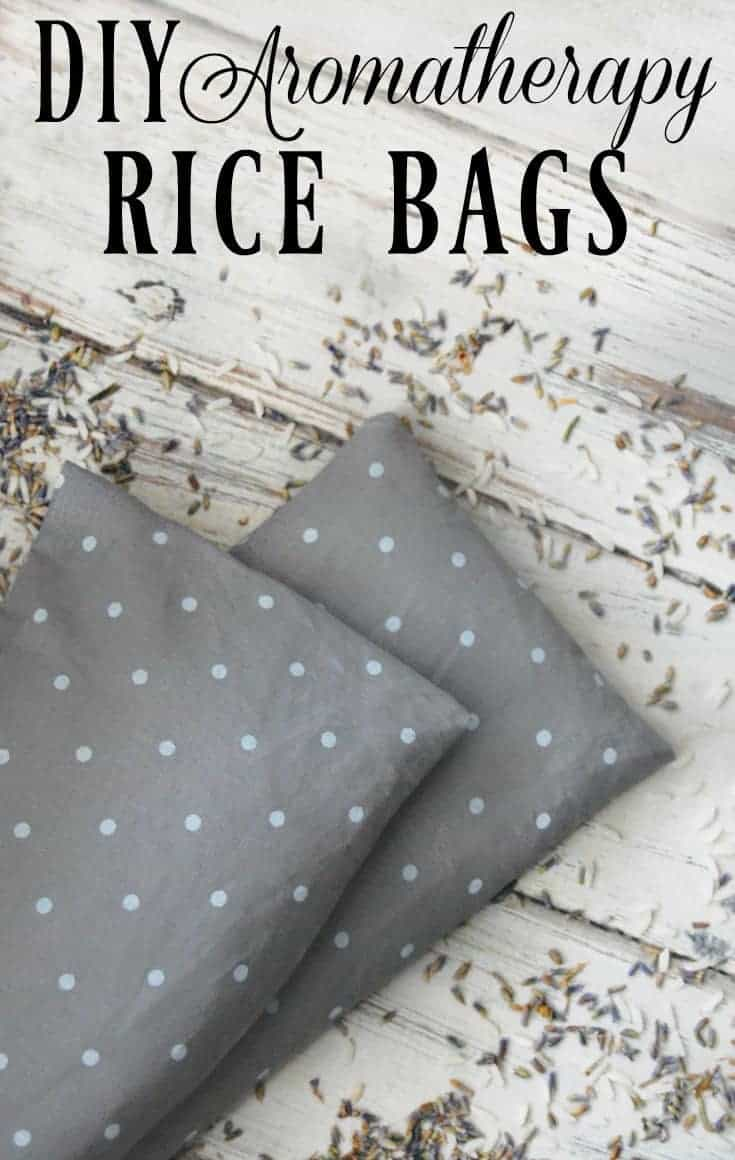 DIY Aromatherapy Rice Bag - I adore my rice bag! Great for sore muscles, growing pains, or when you just need to warm up a bit! #ricebag #soremuscles #growingpains #restlesslegsyndrome #aromatherapy #diy
