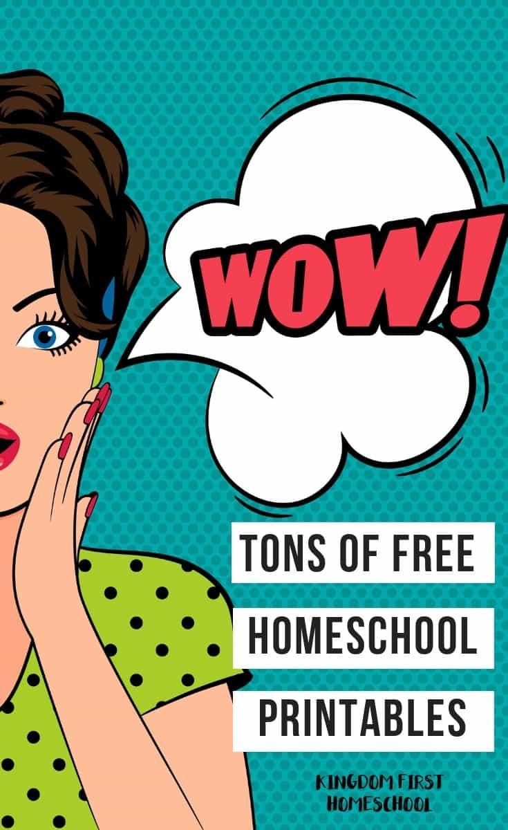 Tons of Free Homeschool Printables