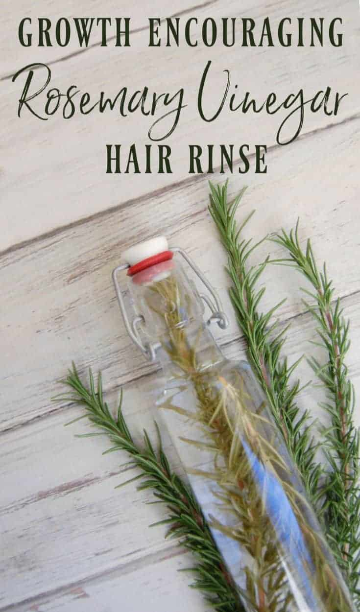 Growth Encouraging Rosemary Vinegar Hair Rinse