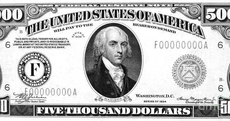 5000 dollar bill