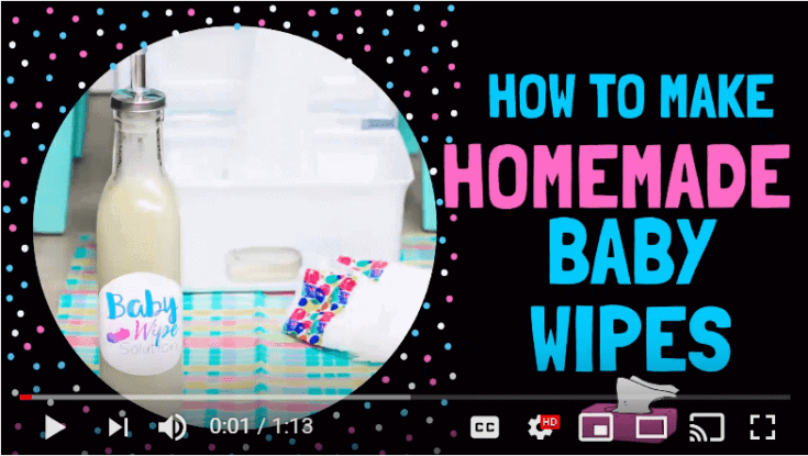 How to Make Homemade Baby Wipes youtube video