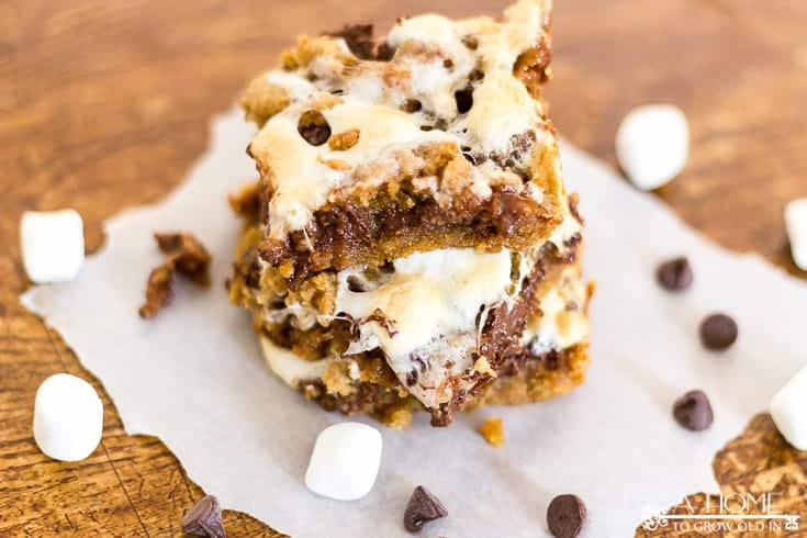 s'mores bars to serve at backyard BBQ