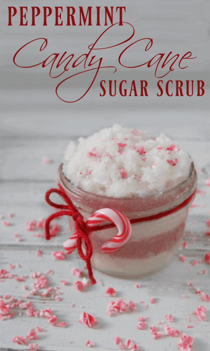 Peppermint Candy Cane Sugar Scrub
