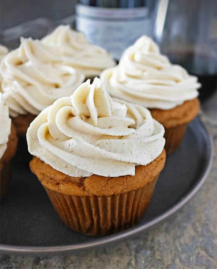 Paired with a light and fruity Beaujolais, these light, gluten free, Ginger Sweet Potato Cupcakes with Ginger Frosting are a delightful end to any supper or holiday gathering.