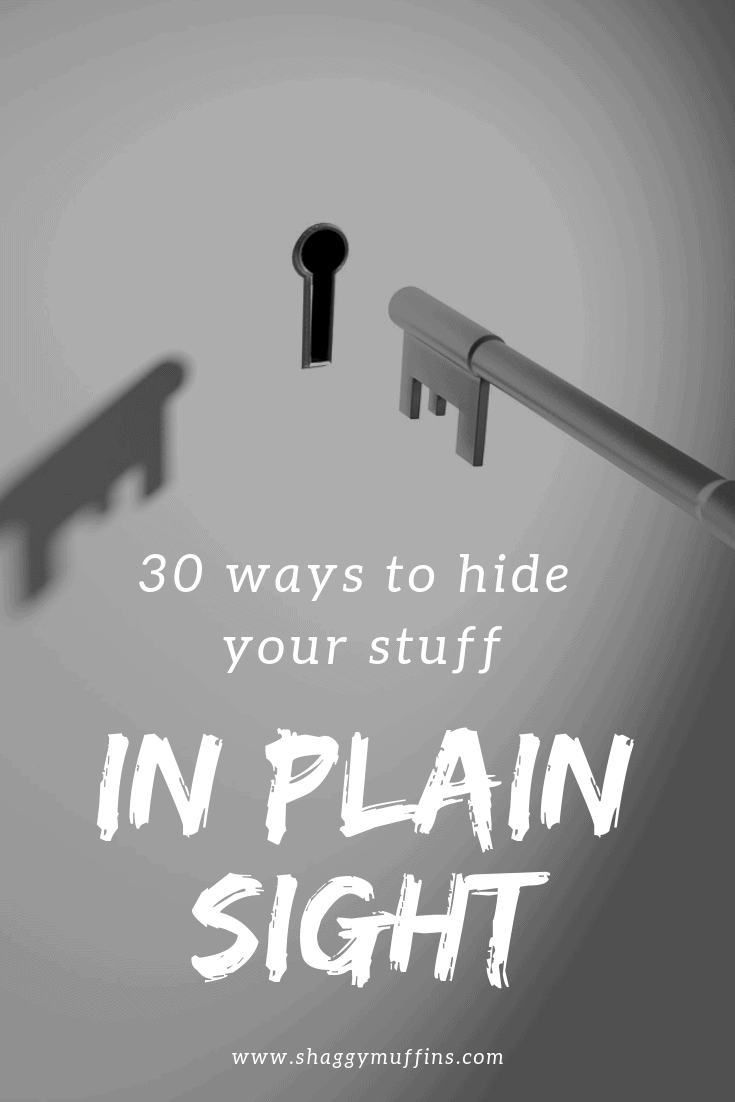 30 ways to hide your stuff