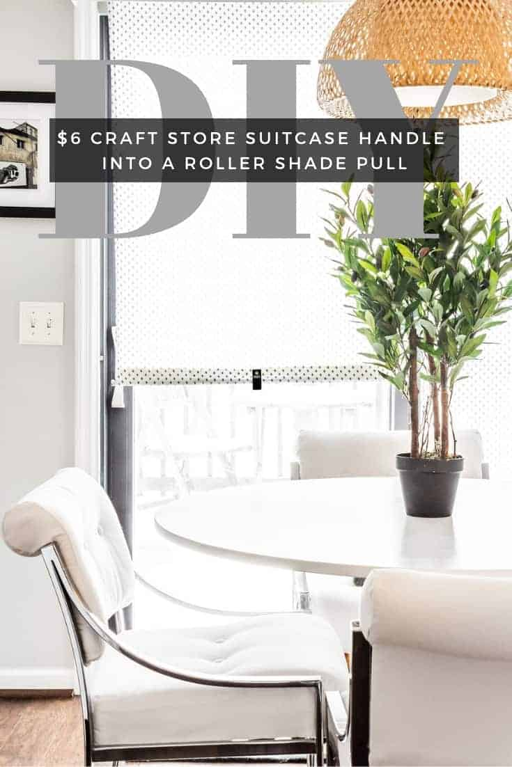 DIY window roller shade, IKEA hack, window shade pull, pull down roller blind.