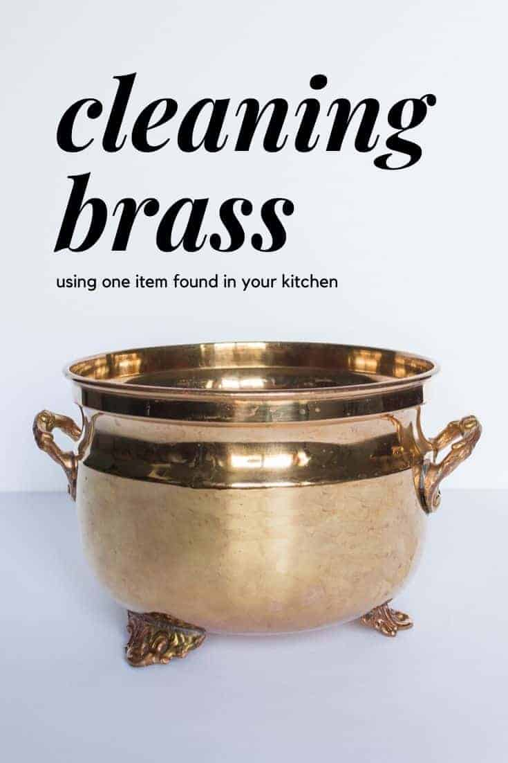 How to clean brass using one item found in your kitchen.