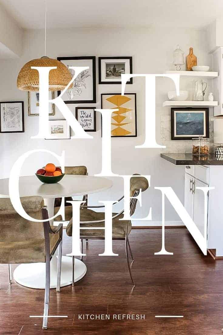 Kitchen Refresh Black and White Neotraditional Kitchen